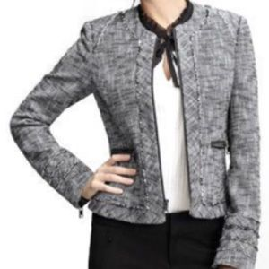 Banana Republic Black/White Blazer/Jacket, Size 0